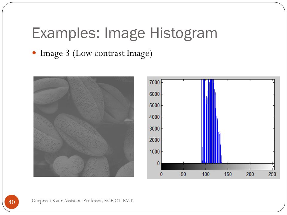 Examples: Image Histogram
