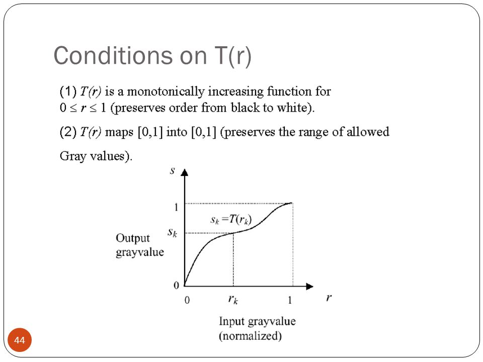Conditions on T(r)