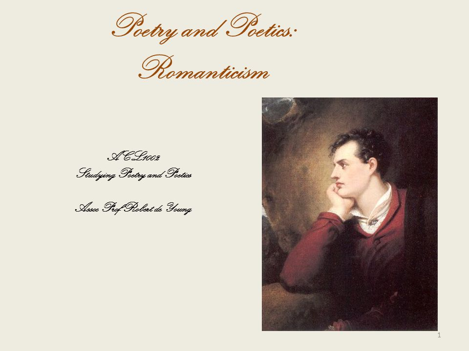 Poetry and Poetics: Romanticism