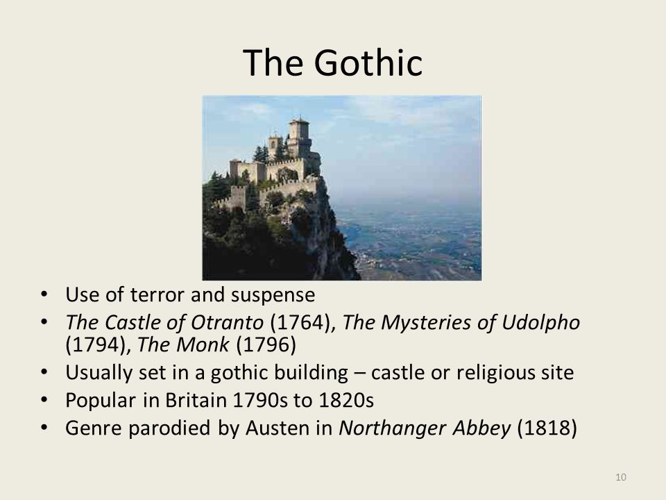 The Gothic Use of terror and suspense
