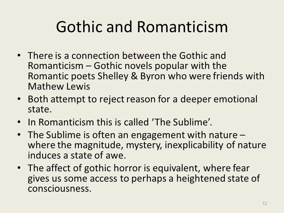 Gothic and Romanticism