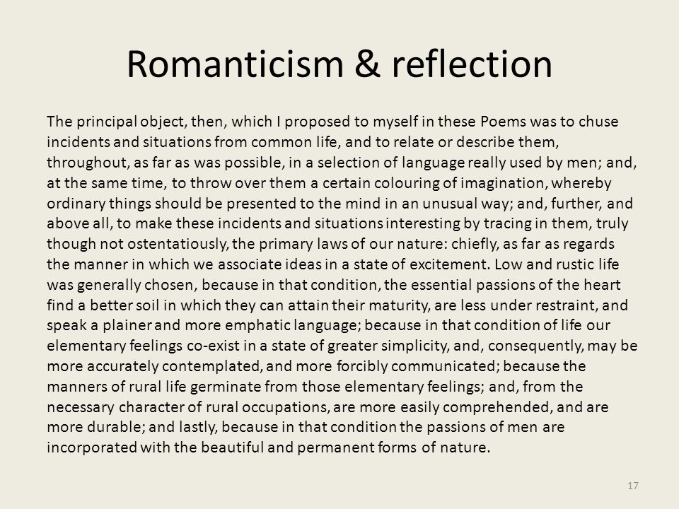Romanticism & reflection