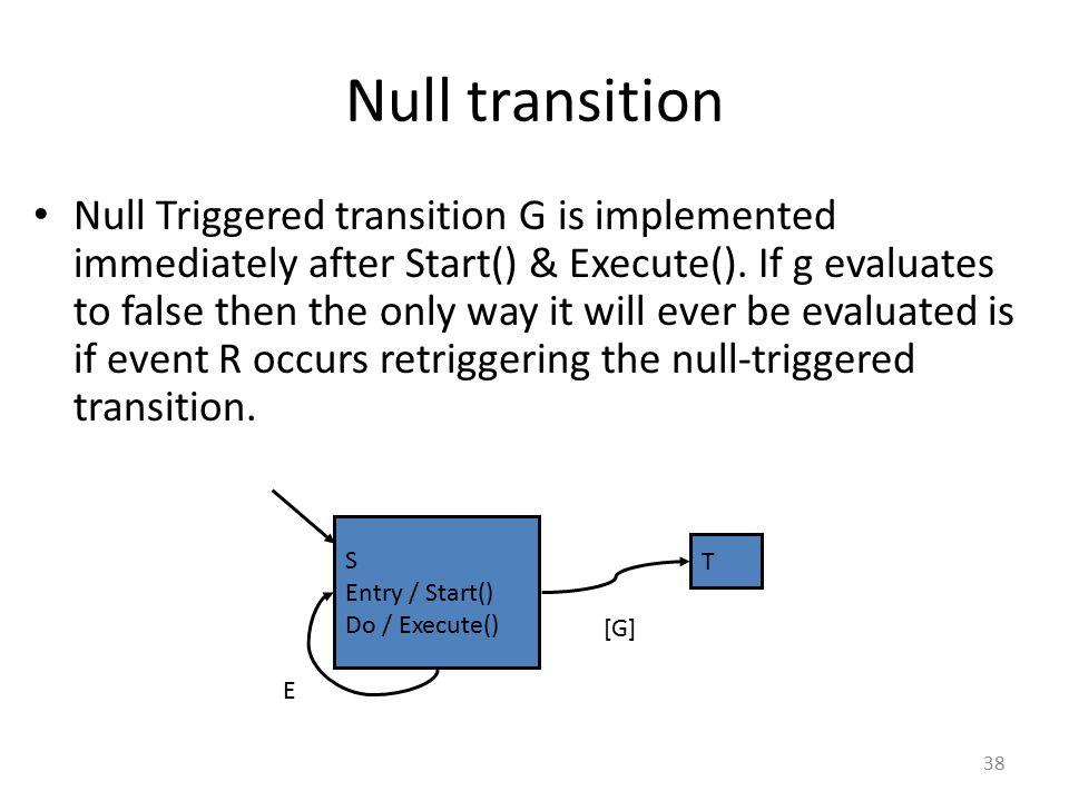 Null transition