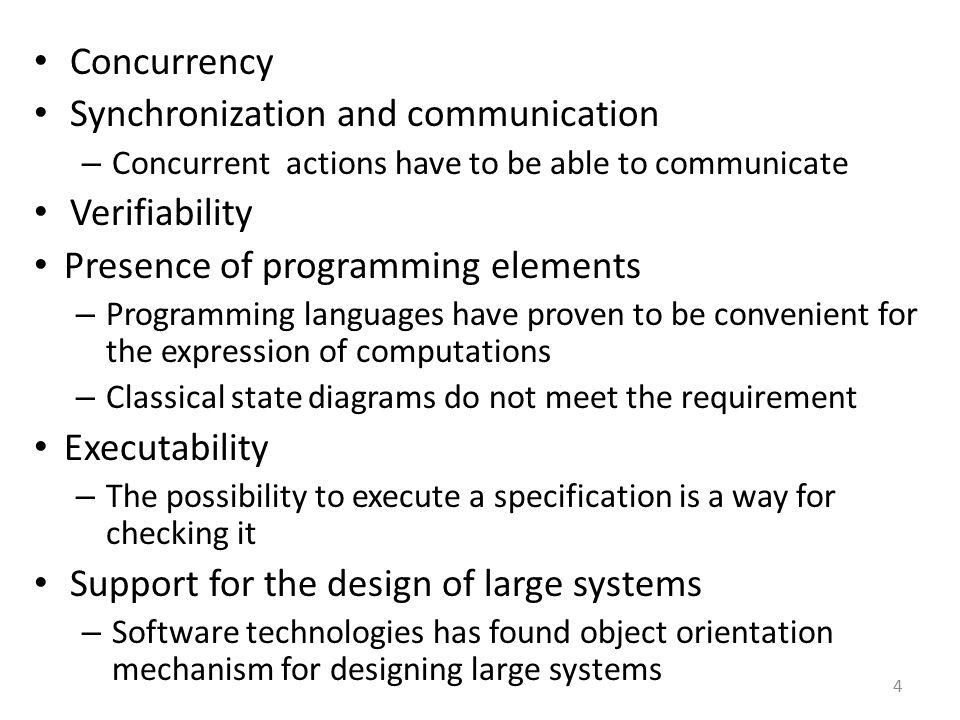 Synchronization and communication Verifiability