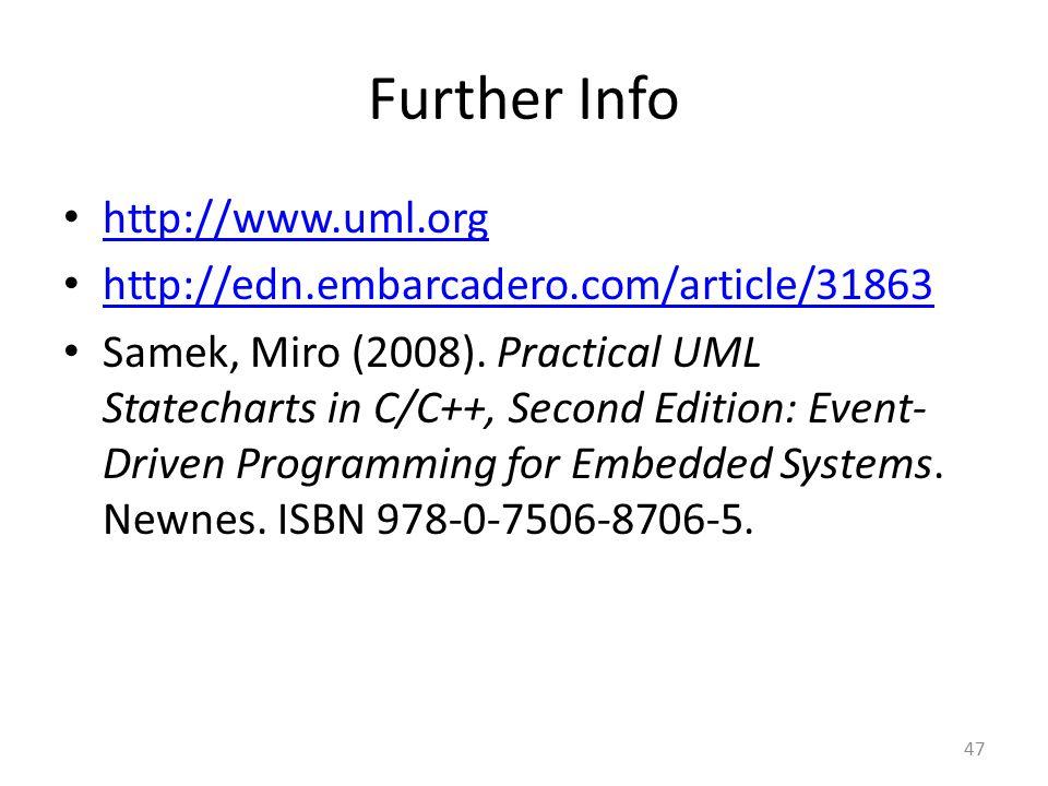 Further Info http://www.uml.org