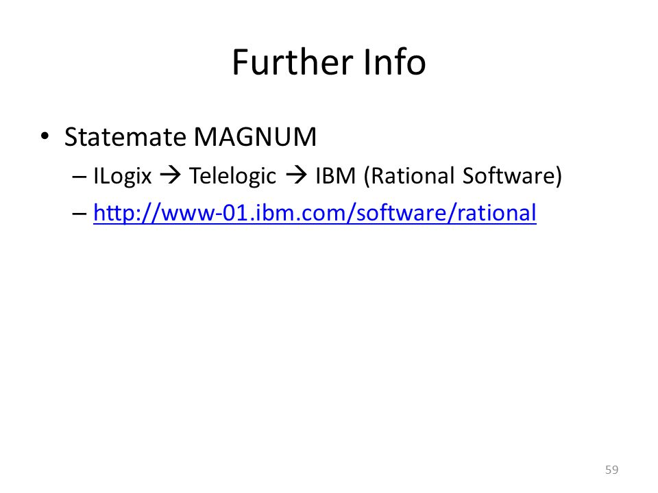 Further Info Statemate MAGNUM