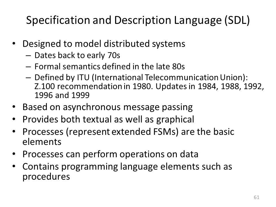 Specification and Description Language (SDL)
