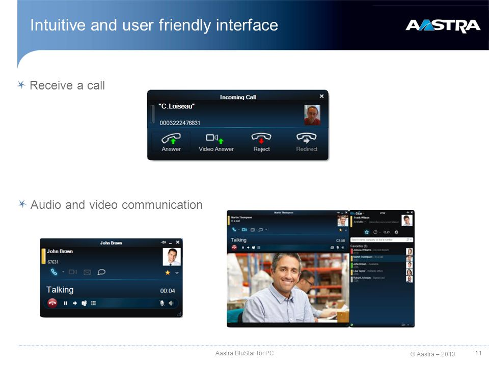 Intuitive and user friendly interface
