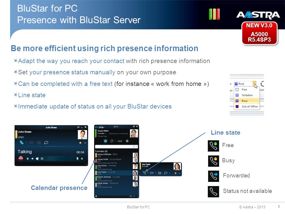 BluStar for PC Presence with BluStar Server