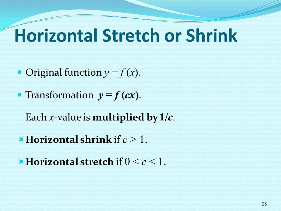 Horizontal Stretch or Shrink