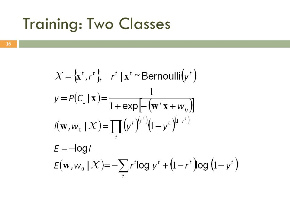 Training: Two Classes