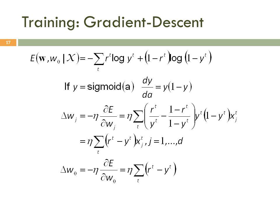 Training: Gradient-Descent