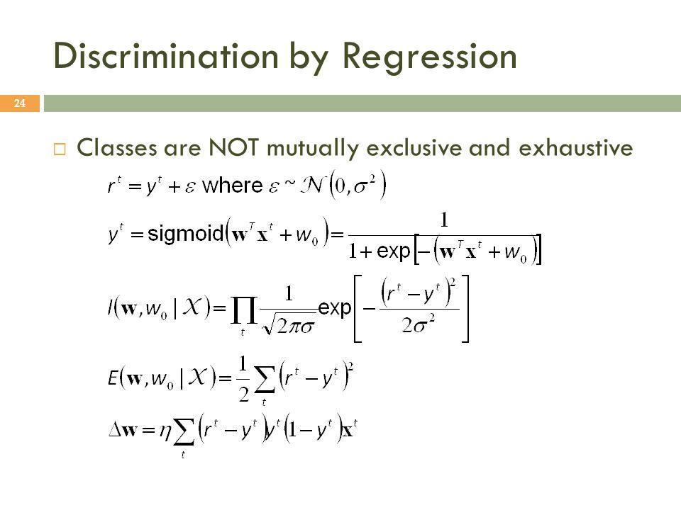 Discrimination by Regression