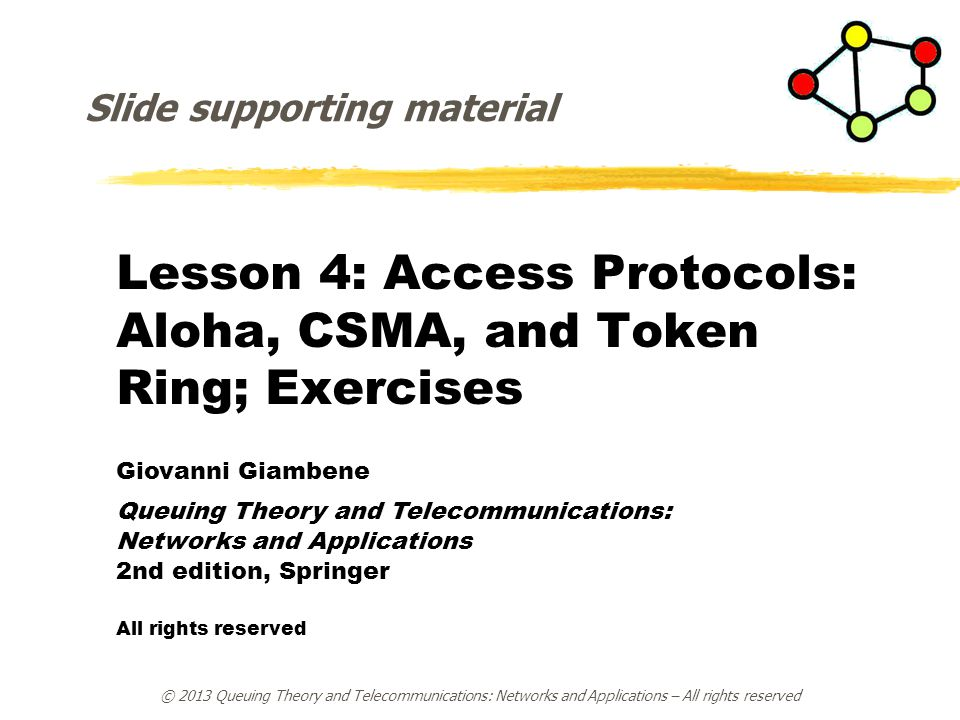Lesson 4: Access Protocols: Aloha, CSMA, and Token Ring; Exercises