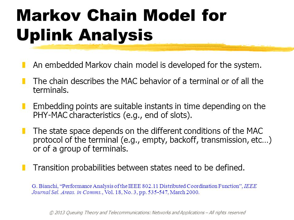 Markov Chain Model for Uplink Analysis