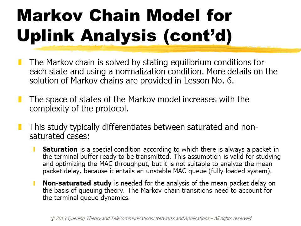 Markov Chain Model for Uplink Analysis (cont'd)