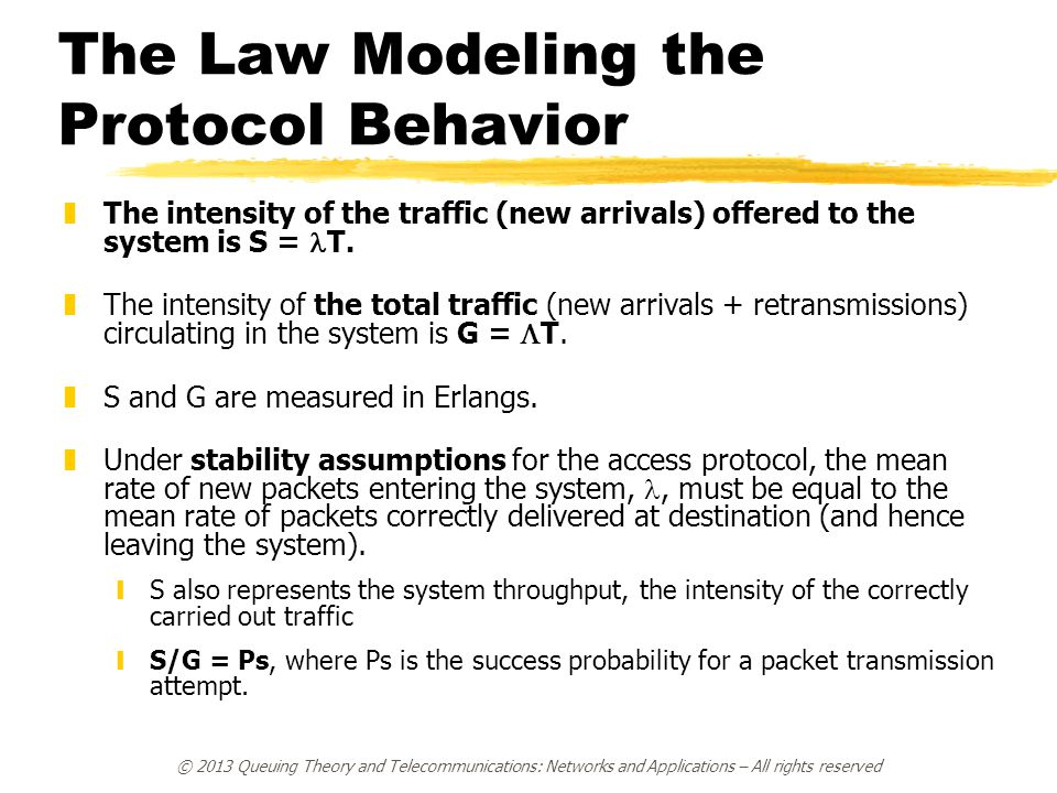 The Law Modeling the Protocol Behavior