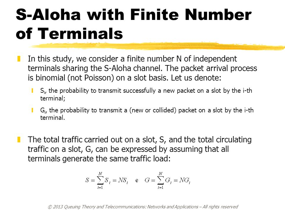 S-Aloha with Finite Number of Terminals