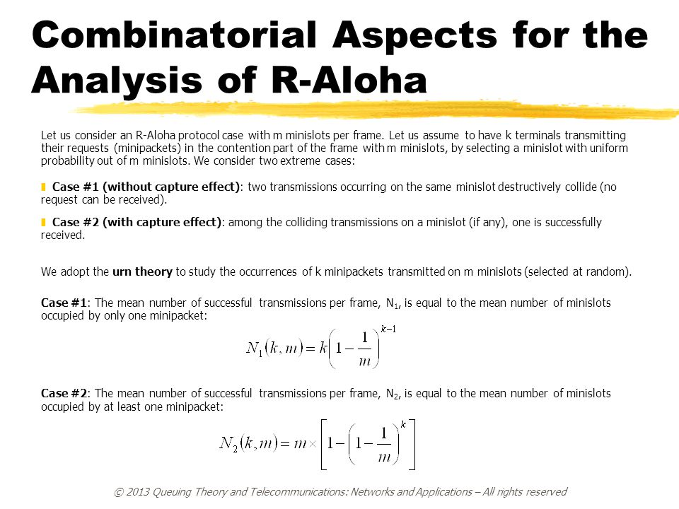 Combinatorial Aspects for the Analysis of R-Aloha