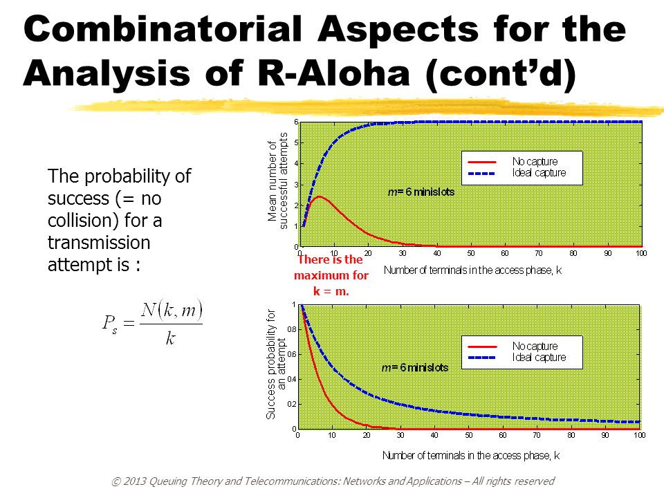 Combinatorial Aspects for the Analysis of R-Aloha (cont'd)