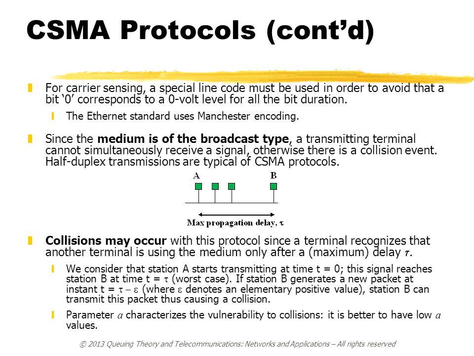 CSMA Protocols (cont'd)
