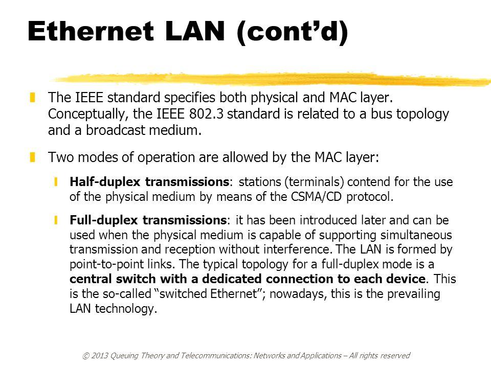 Ethernet LAN (cont'd)