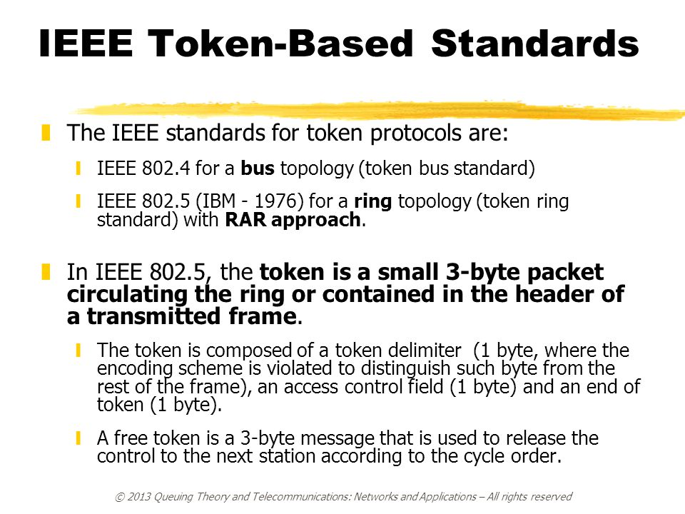 IEEE Token-Based Standards