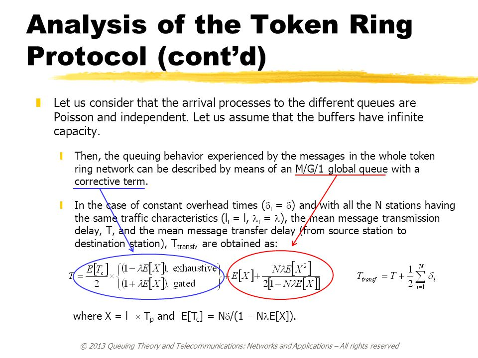 Analysis of the Token Ring Protocol (cont'd)