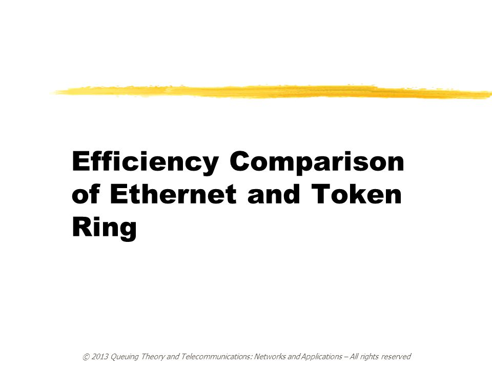 Efficiency Comparison of Ethernet and Token Ring
