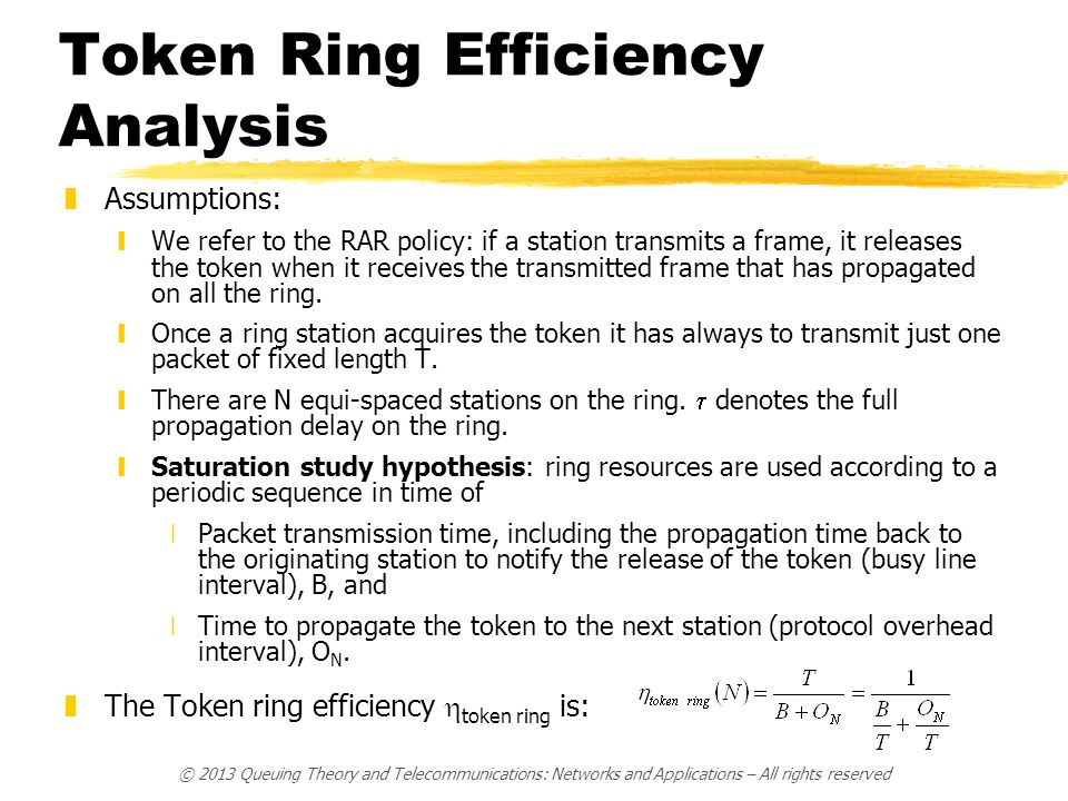 Token Ring Efficiency Analysis