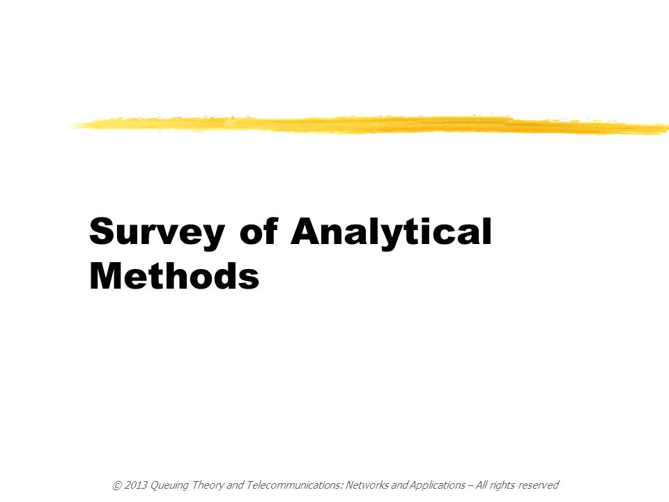 Survey of Analytical Methods
