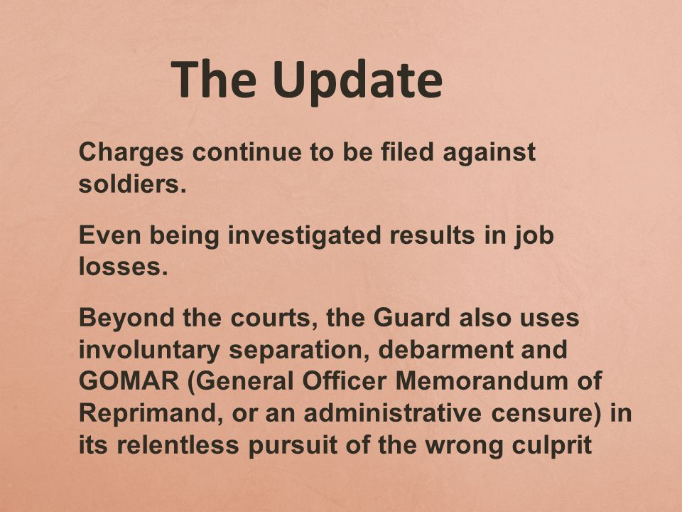 The Update Even being investigated results in job losses.