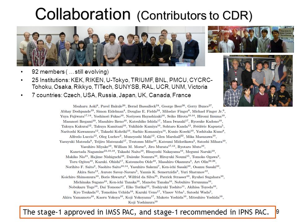 Collaboration (Contributors to CDR)