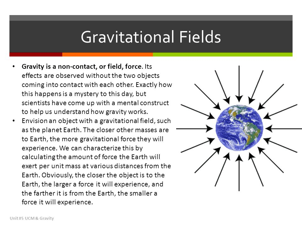 Gravitational Fields