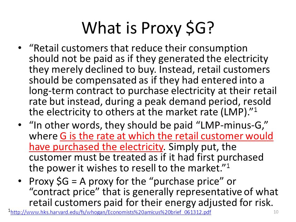 What is Proxy $G