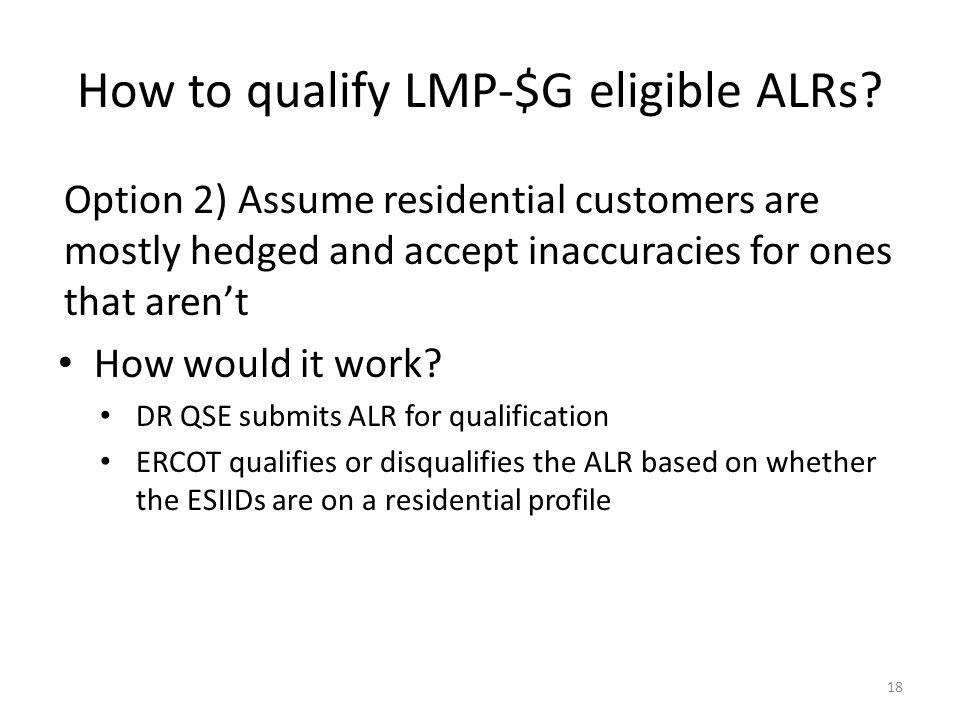 How to qualify LMP-$G eligible ALRs
