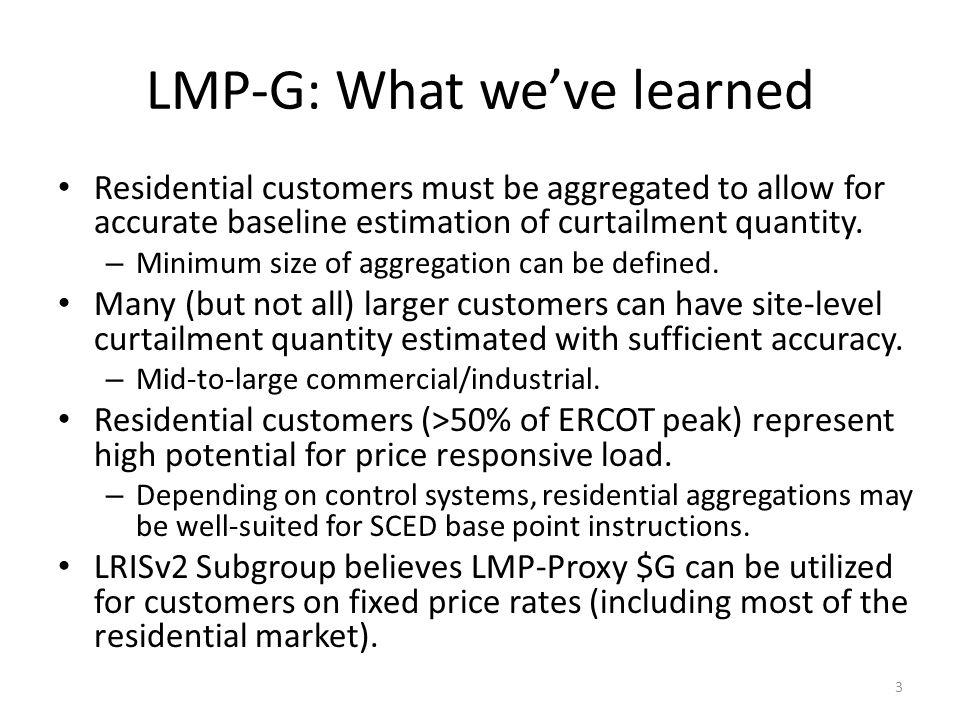 LMP-G: What we've learned