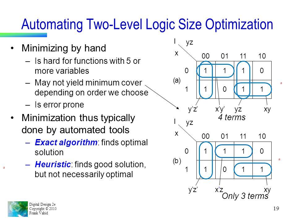 Automating Two-Level Logic Size Optimization