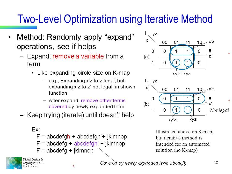 Two-Level Optimization using Iterative Method