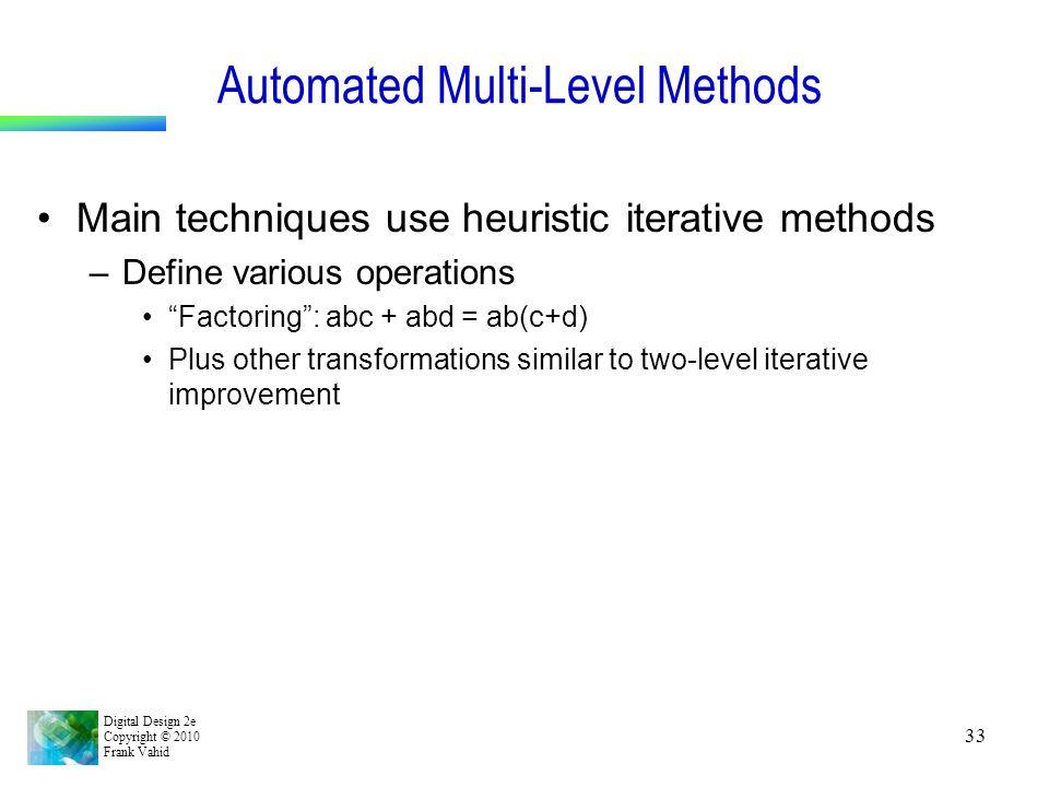 Automated Multi-Level Methods