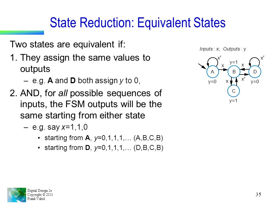 State Reduction: Equivalent States