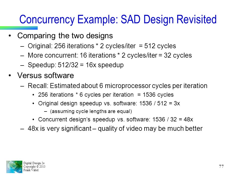 Concurrency Example: SAD Design Revisited