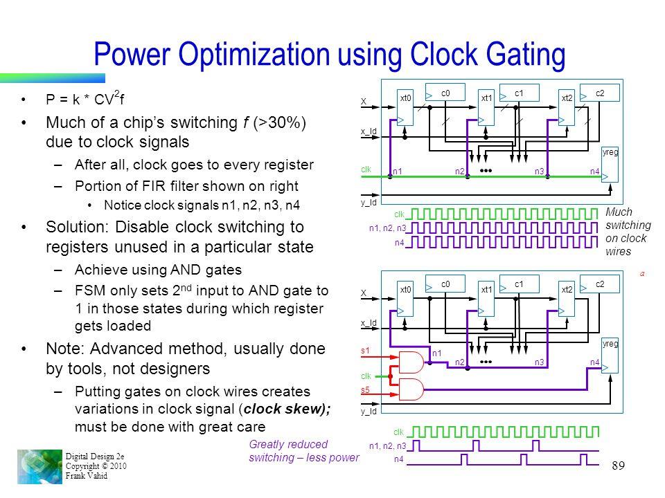 Power Optimization using Clock Gating
