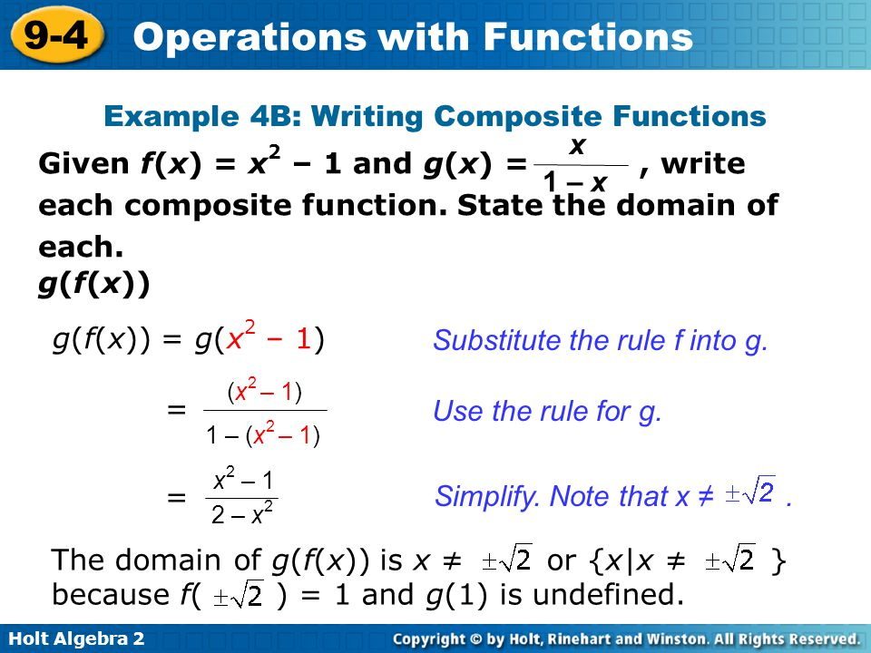 Example 4B: Writing Composite Functions
