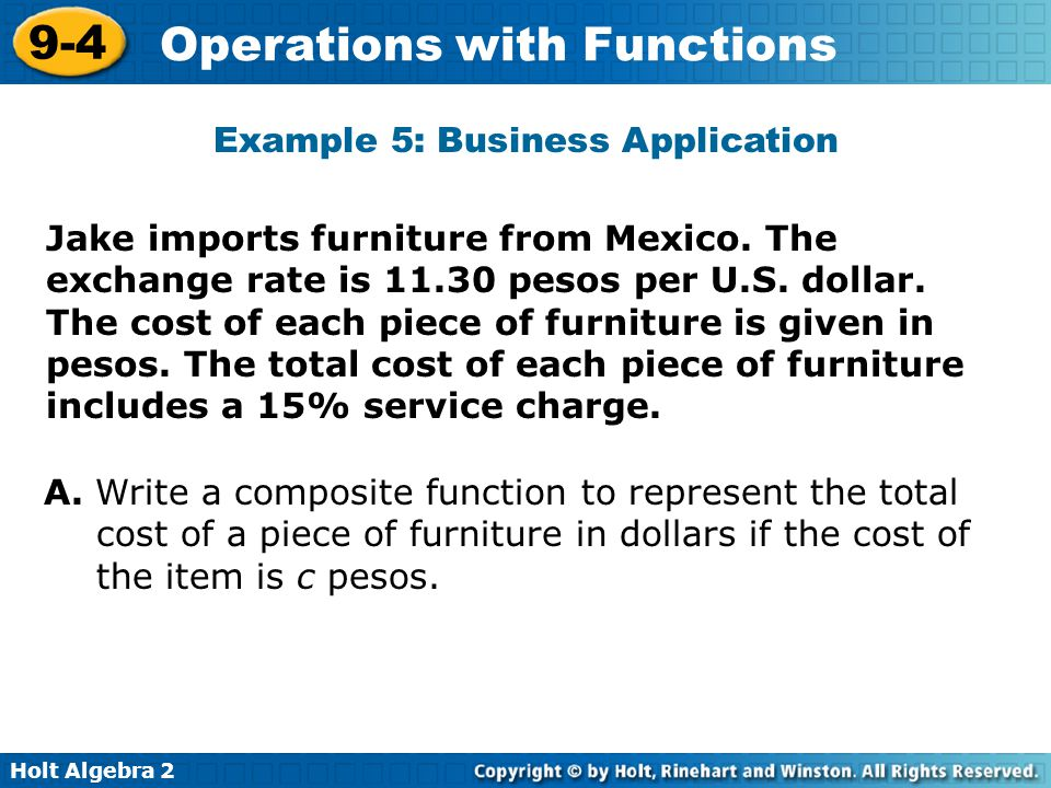 Example 5: Business Application