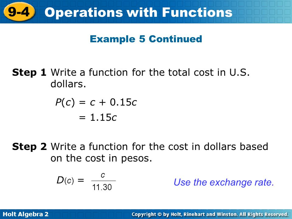 Step 1 Write a function for the total cost in U.S. dollars.