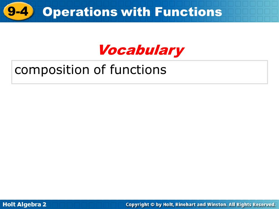 Vocabulary composition of functions