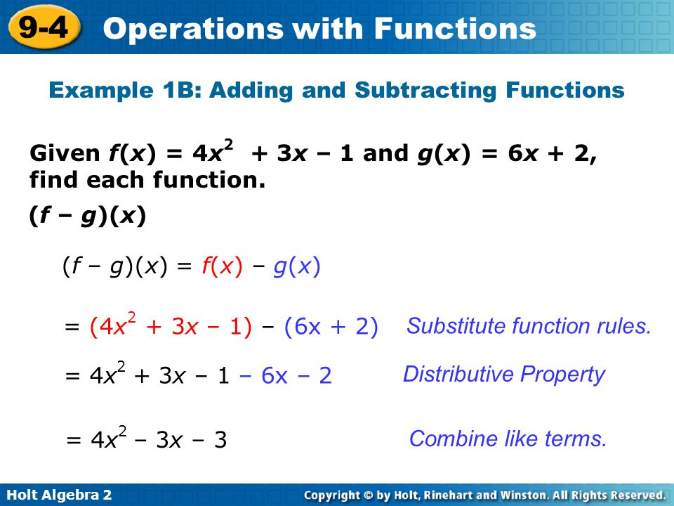 Operations with Functions - ppt download