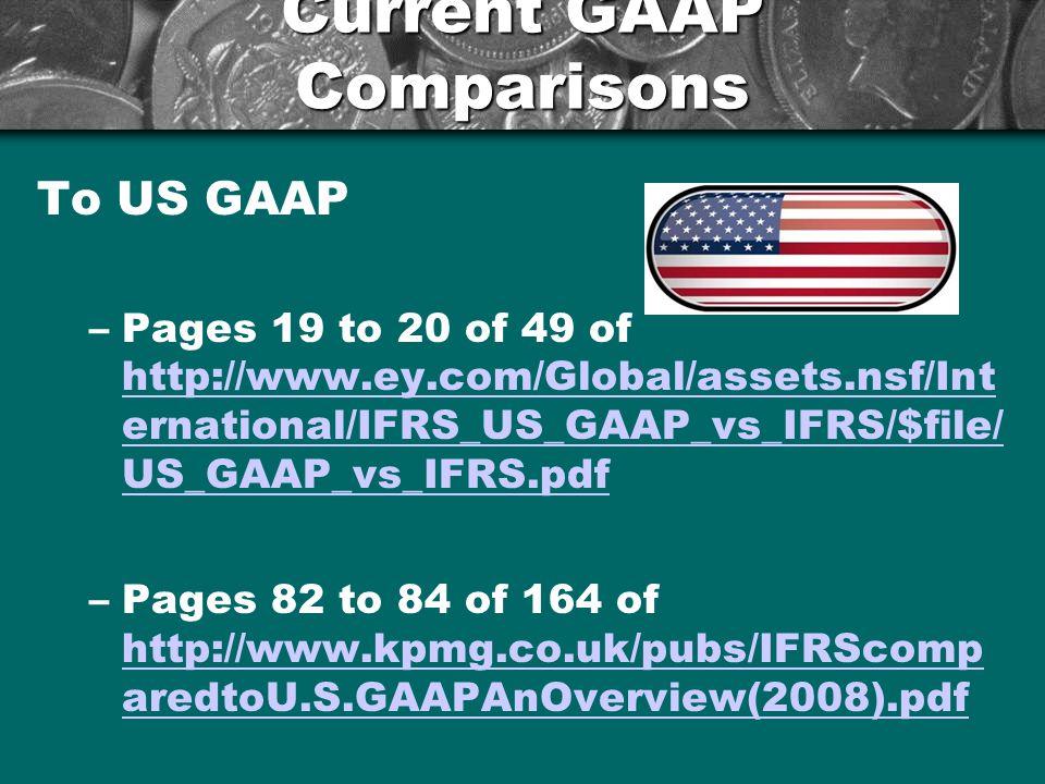 Current GAAP Comparisons