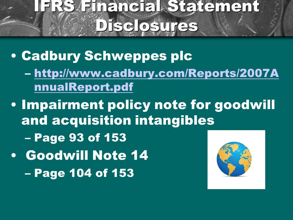 IFRS Financial Statement Disclosures
